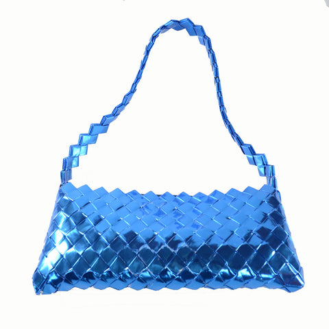 Recycled Candy Wrapper Handbag - Blue