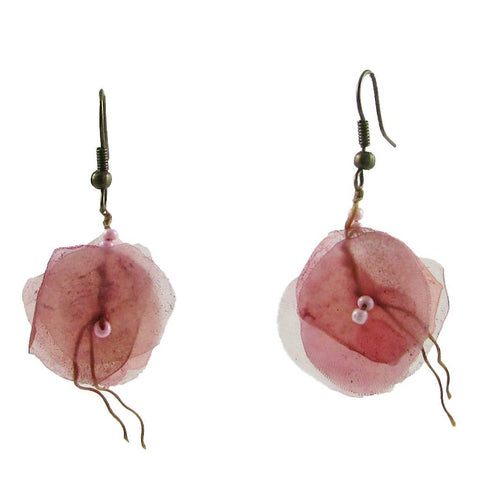 Fish Scales Earrings -Rose