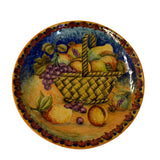 Basket with Fruits Decorative Plate