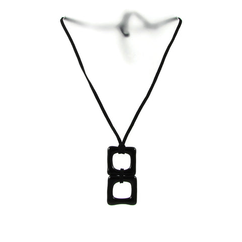 Duo Glass Necklace - Black