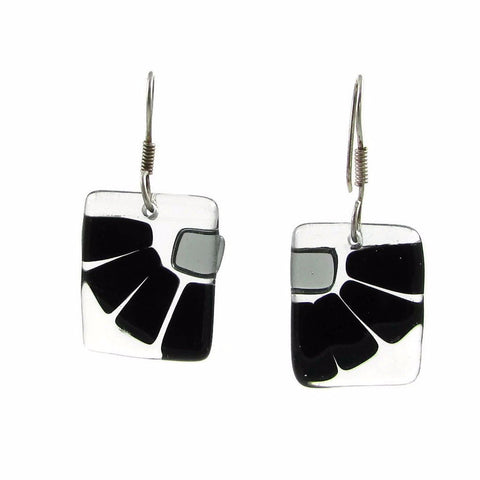 LAMA Glass Earrings - Black