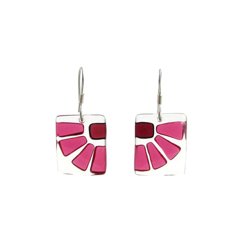 LAMA Glass Earrings - Cherry