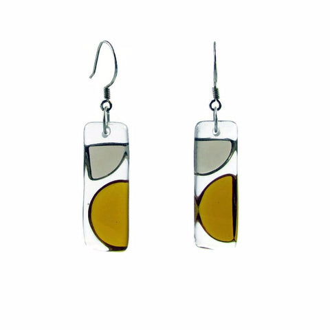 Onda Glass Earrings - Amber