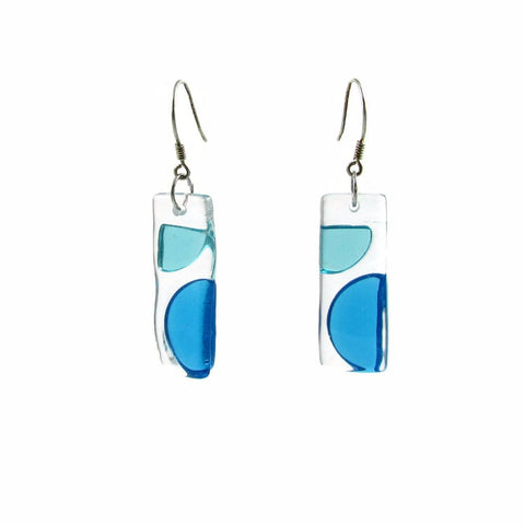 Onda Glass Earrings - Aqua