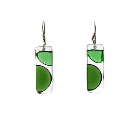 Onda Glass Earrings - Green