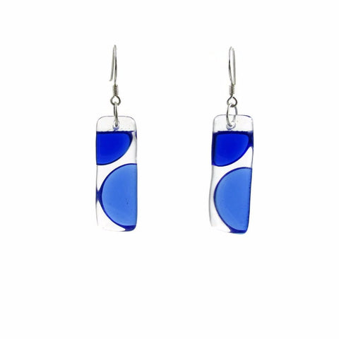 Onda Glass Earrings - Navy