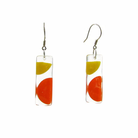 Onda Glass Earrings - Orange