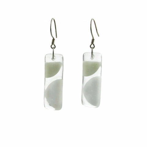 Onda Glass Earrings - White