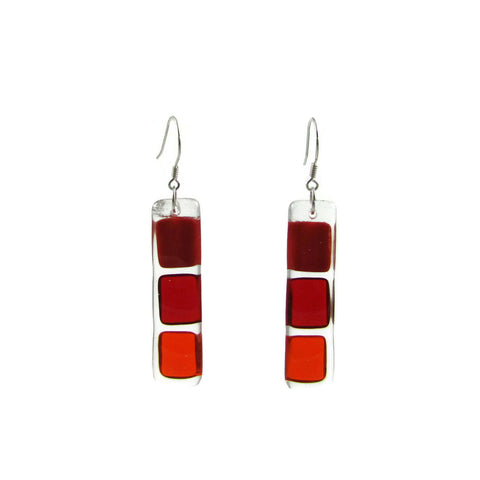 LMOL Glass Earrings - Red