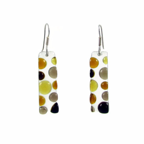 Bubbles Glass Earrings - Amber