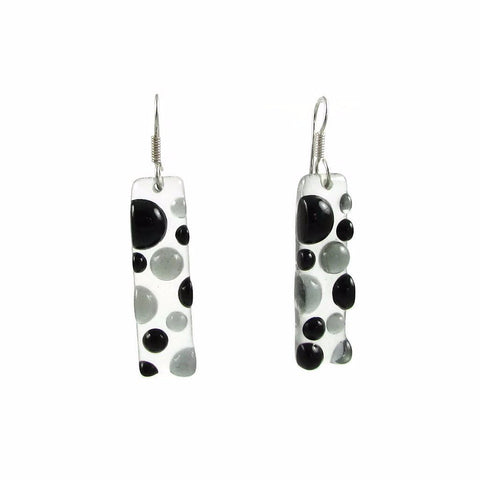 Bubbles Glass Earrings - Black