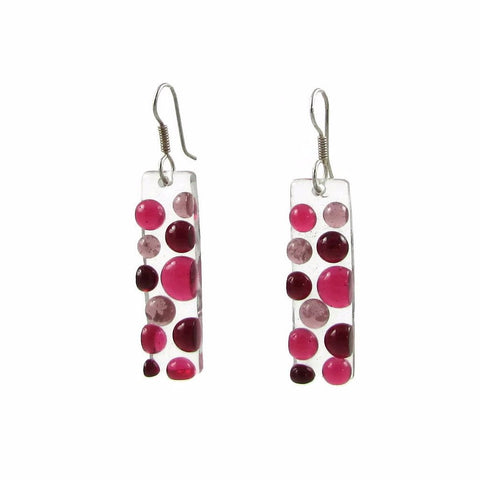 Bubbles Glass Earrings - Cherry