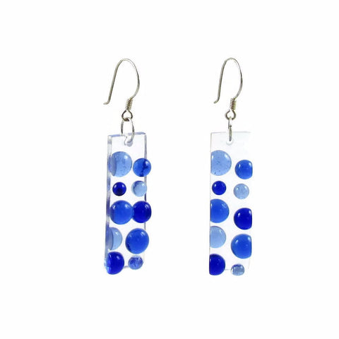 Bubbles Glass Earrings - Navy