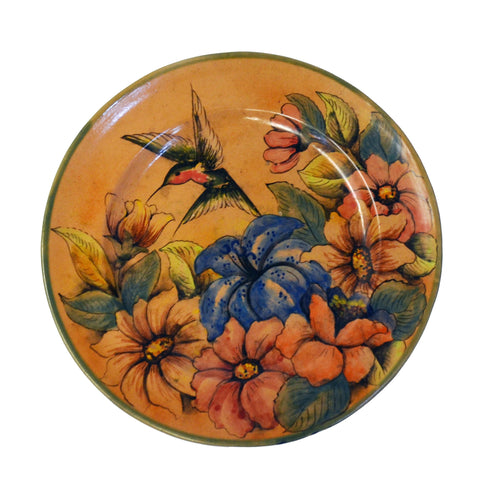Green Hummingbird Decorative Plate