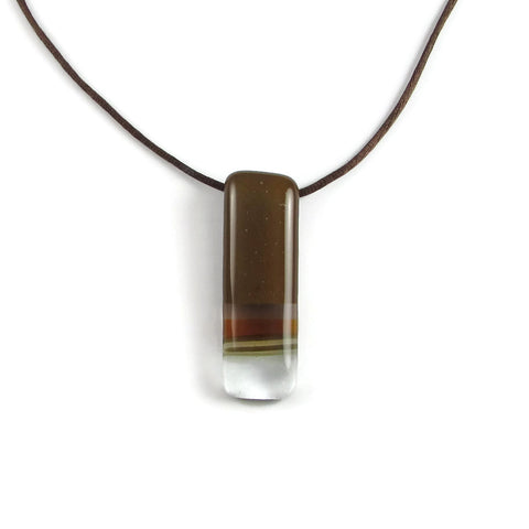 Pietri Glass Pendant - Brown