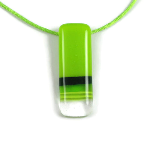 Pietri Glass Pendant - Lime