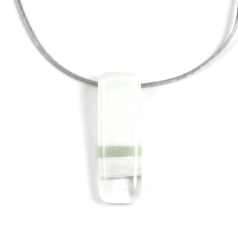 Pietri Glass Pendant - White