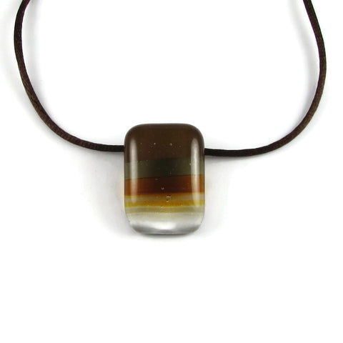Ombre Mini Glass Pendant - Brown