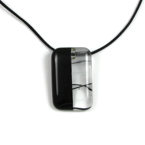 Mitad Glass Pendant - Black