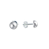 Half Ball Stud Earrings - 7mm