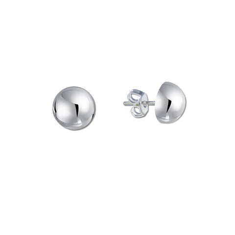 Half Ball Stud Earrings - 8mm