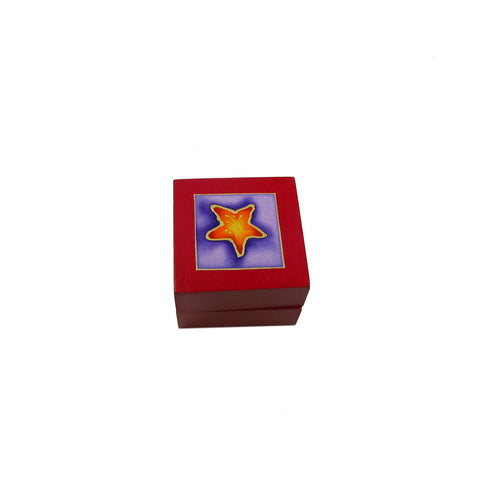 Tea Light Box - Red Starfish