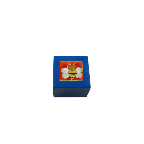 Tea Light Box - Blue Bee