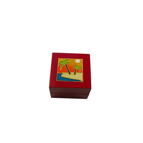 Tea Light Box - Red Beach
