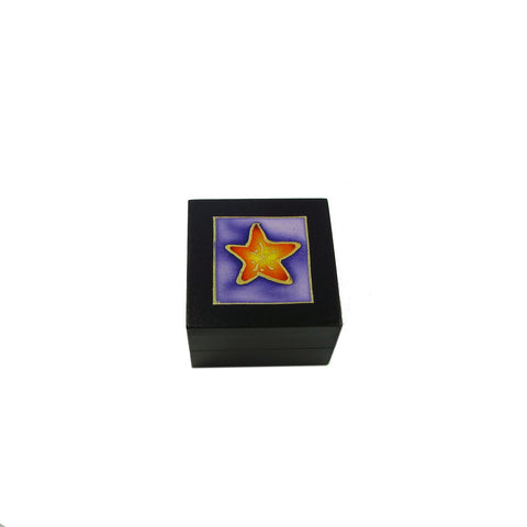 Tea Light Box - Black Starfish