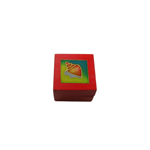 Tea Light Box - Red Seashell