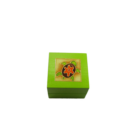 Tea Light Box - Green Turtle