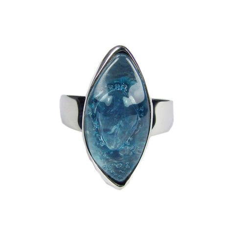 Cocol Blown Glass Ring - Aqua