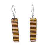 LGAN Glass Earrings - Amber