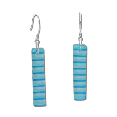 LGAN Glass Earrings - Aqua