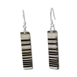 LGAN Glass Earrings - Black