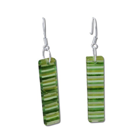LGAN Glass Earrings - Green