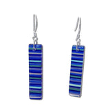 LGAN Glass Earrings - Navy