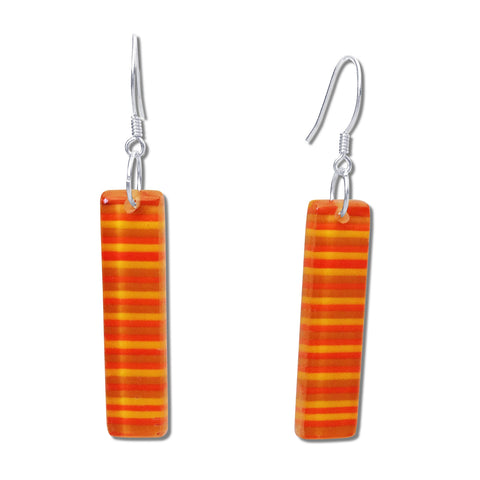 LGAN Glass Earrings - Orange