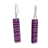 LGAN Glass Earrings - Purple