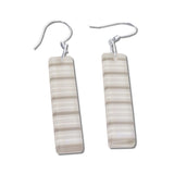 LGAN Glass Earrings - White