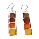 LMOL Glass Earrings - Amber
