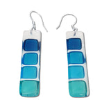 LMOL Glass Earrings - Aqua