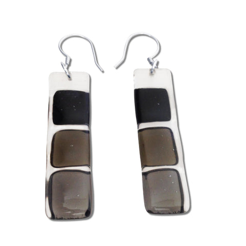 LMOL Glass Earrings - Black