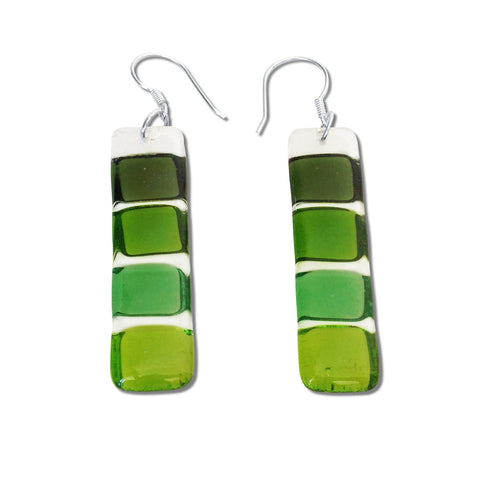 LMOL Glass Earrings - Green