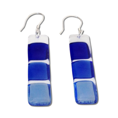 LMOL Glass Earrings - Navy