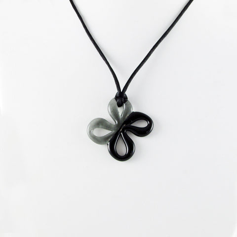 Mariposa Mini Glass Pendant - Black