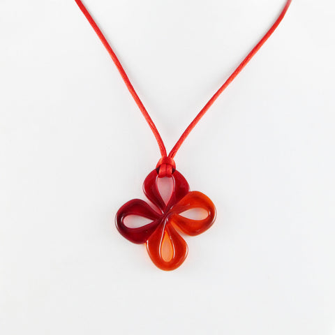 Mariposa Mini Glass Pendant -Red