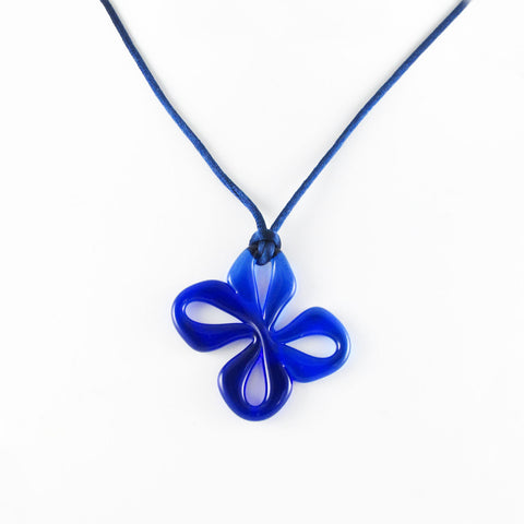 Mariposa Mini Glass Pendant - Navy