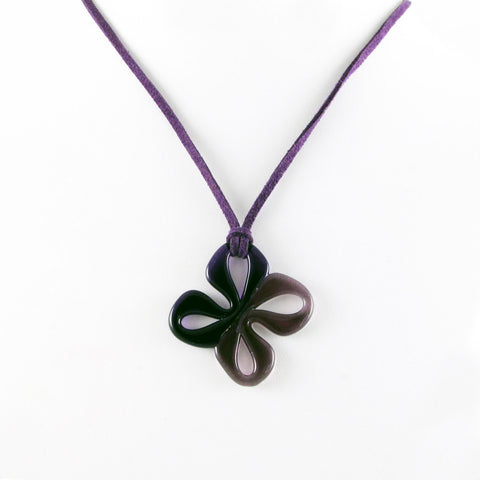 Mariposa Mini Glass Pendant - Purple