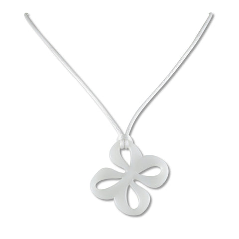 Mariposa Mini Glass Pendant - White